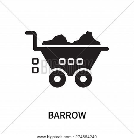 Barrow Icon Isolated On White Background. Barrow Icon Simple Sign. Barrow Icon Trendy And Modern Sym