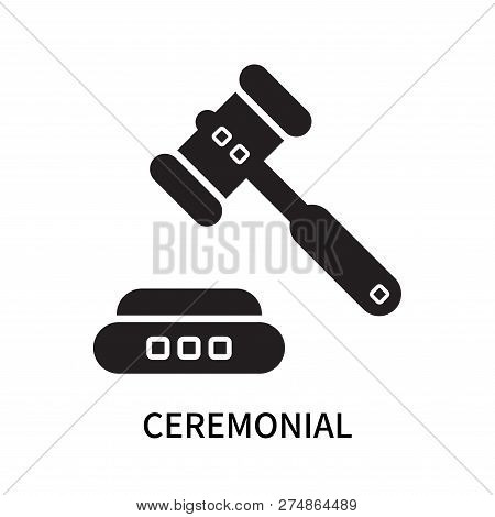 Ceremonial Icon Isolated On White Background. Ceremonial Icon Simple Sign. Ceremonial Icon Trendy An