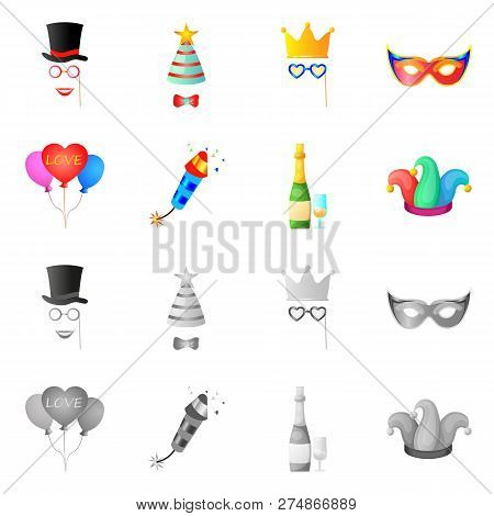 Vector Illustration Of Party And Birthday Symbol. Set Of Party And Celebration Stock Vector Illustra