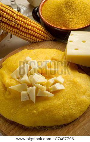 polenta and cheese