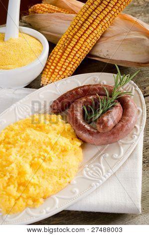 polenta with sausage