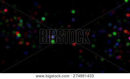 Blur Background With Bokeh Effect, Out Of Focus Background. Colorful Lights Bokeh On Background