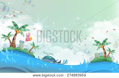 Fish is travelling from one island to other