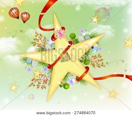 Stars with ribbon