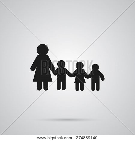 Isolated Kindergarten Icon Symbol On Clean Background. Vector Nanny Element In Trendy Style.