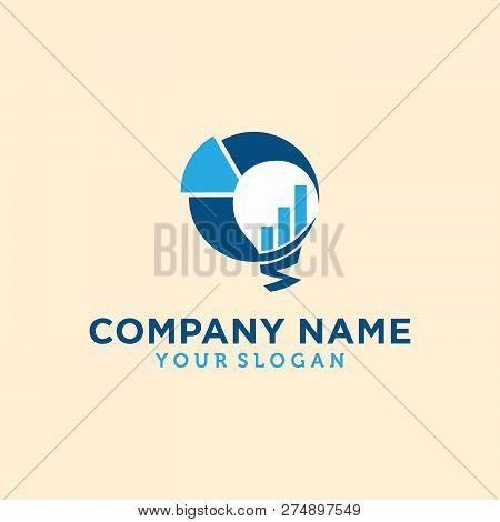 Business Abstract Logo Symbol. Vector Logo Concept Illustration. Abstract Vector Logo. Vertical Shap