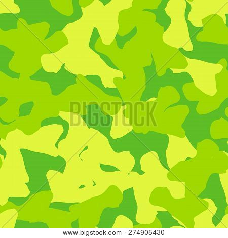 Spring Ufo Camouflage Of Various Shades Of Yellow And Green Colors