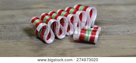 Photo Of Old Fashioned Christmas Ribbon Candy