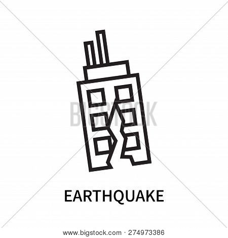 Earthquake Icon Isolated On White Background. Earthquake Icon Simple Sign. Earthquake Icon Trendy An