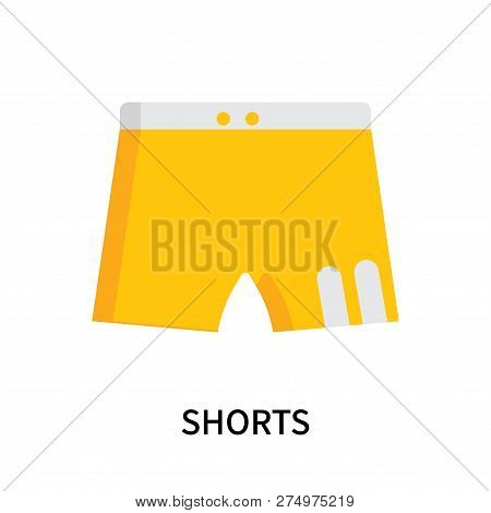 Shorts Icon Isolated On White Background. Shorts Icon Simple Sign. Shorts Icon Trendy And Modern Sym
