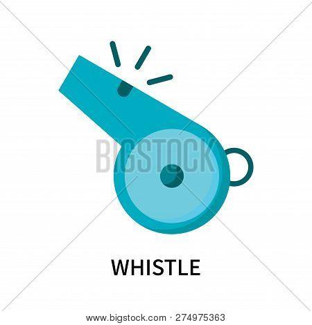 Whistle Icon Isolated On White Background. Whistle Icon Simple Sign. Whistle Icon Trendy And Modern