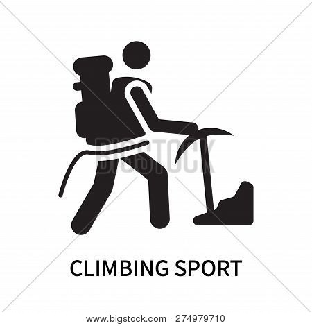 Climbing Sport Icon Isolated On White Background. Climbing Sport Icon Simple Sign. Climbing Sport Ic
