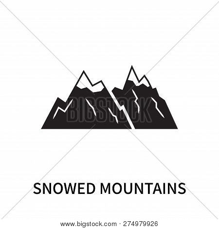Snowed Mountains Icon Isolated On White Background. Snowed Mountains Icon Simple Sign. Snowed Mounta