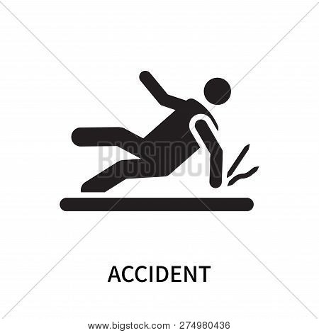 Accident Icon Isolated On White Background. Accident Icon Simple Sign. Accident Icon Trendy And Mode