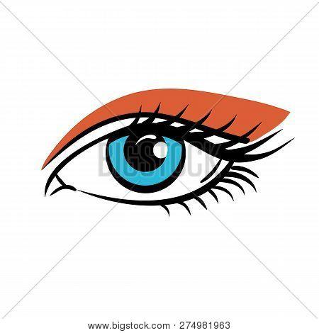Eye On White Background. Eyes Art. Woman Eye. The Eye Logo. Eyes Art. Human Eye, Eye Close Up - Vect