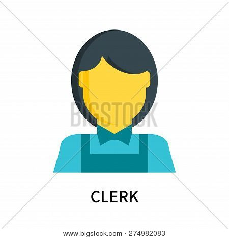 Clerk Icon Isolated On White Background. Clerk Icon Simple Sign. Clerk Icon Trendy And Modern Symbol