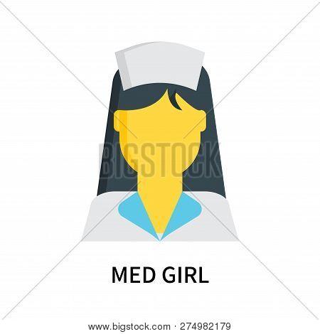 Med Girl Icon Isolated On White Background. Med Girl Icon Simple Sign. Med Girl Icon Trendy And Mode