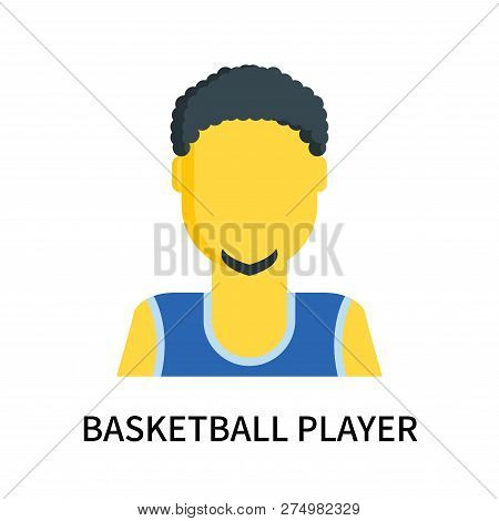 Basketball Player Icon Isolated On White Background. Basketball Player Icon Simple Sign. Basketball