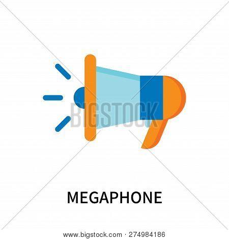 Megaphone Icon Isolated On White Background. Megaphone Icon Simple Sign. Megaphone Icon Trendy And M