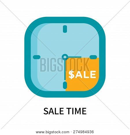 Sale Time Icon Isolated On White Background. Sale Time Icon Simple Sign. Sale Time Icon Trendy And M