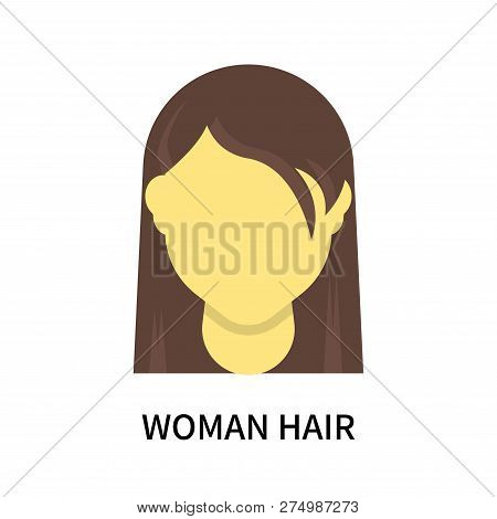 Woman Hair Icon Isolated On White Background. Woman Hair Icon Simple Sign. Woman Hair Icon Trendy An
