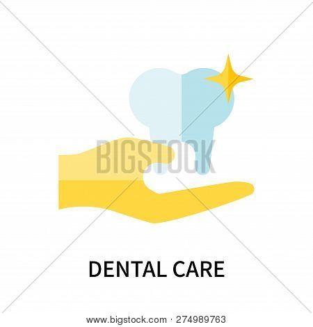 Dental Care Icon Isolated On White Background. Dental Care Icon Simple Sign. Dental Care Icon Trendy