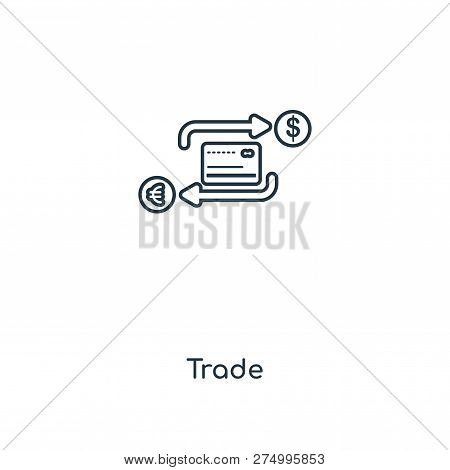 Trade Icon In Trendy Design Style. Trade Icon Isolated On White Background. Trade Vector Icon Simple