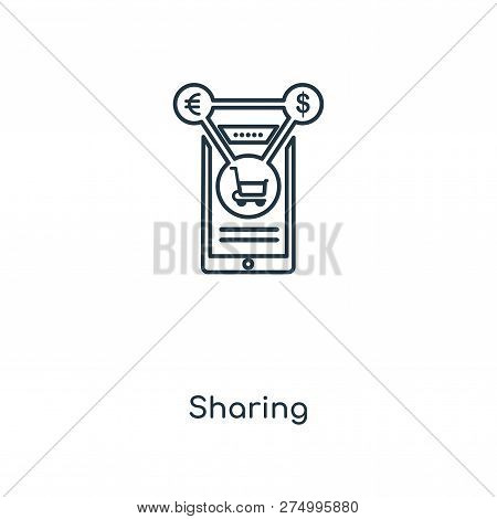 Sharing Icon In Trendy Design Style. Sharing Icon Isolated On White Background. Sharing Vector Icon