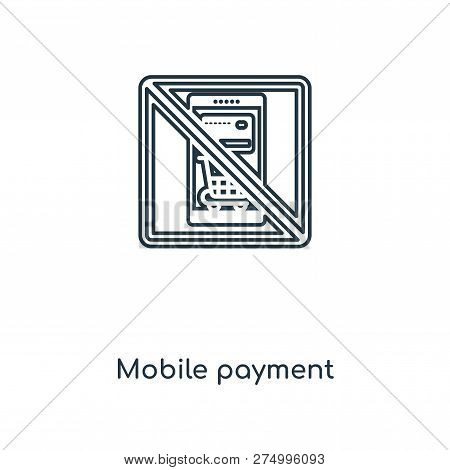 Mobile Payment Icon In Trendy Design Style. Mobile Payment Icon Isolated On White Background. Mobile