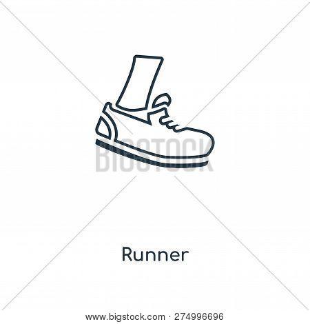 Runner Icon In Trendy Design Style. Runner Icon Isolated On White Background. Runner Vector Icon Sim
