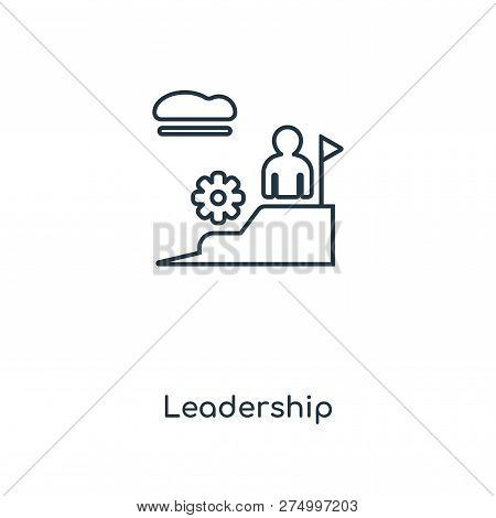 Leadership Icon In Trendy Design Style. Leadership Icon Isolated On White Background. Leadership Vec