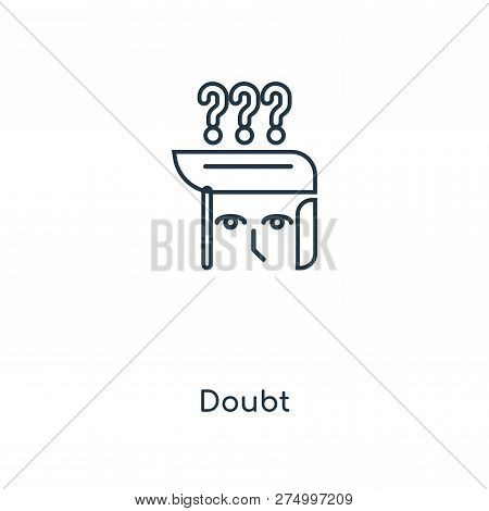 Doubt Icon In Trendy Design Style. Doubt Icon Isolated On White Background. Doubt Vector Icon Simple