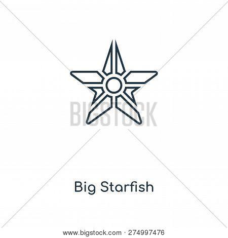 Big Starfish Icon In Trendy Design Style. Big Starfish Icon Isolated On White Background. Big Starfi