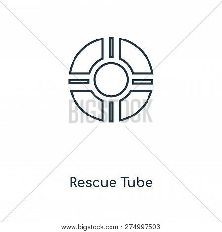 Rescue Tube Icon In Trendy Design Style. Rescue Tube Icon Isolated On White Background. Rescue Tube
