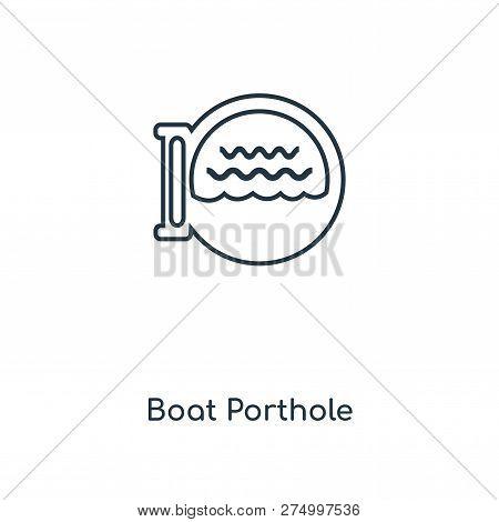 Boat Porthole Icon In Trendy Design Style. Boat Porthole Icon Isolated On White Background. Boat Por