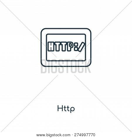 Http Icon In Trendy Design Style. Http Icon Isolated On White Background. Http Vector Icon Simple An