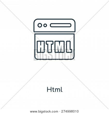 Html Icon In Trendy Design Style. Html Icon Isolated On White Background. Html Vector Icon Simple An