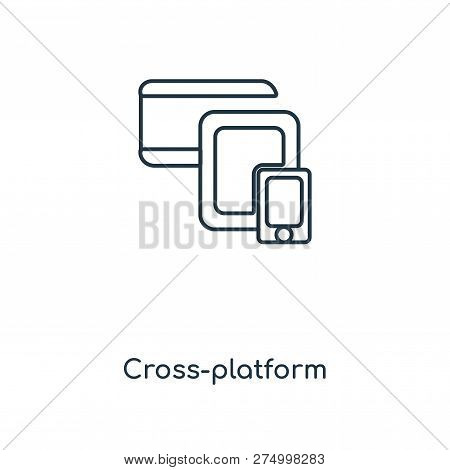 Cross-platform Icon In Trendy Design Style. Cross-platform Icon Isolated On White Background. Cross-