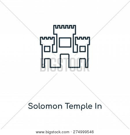 Solomon Temple In Jerusalem Icon In Trendy Design Style. Solomon Temple In Jerusalem Icon Isolated O