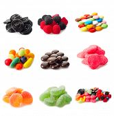 collage variety of candy poster