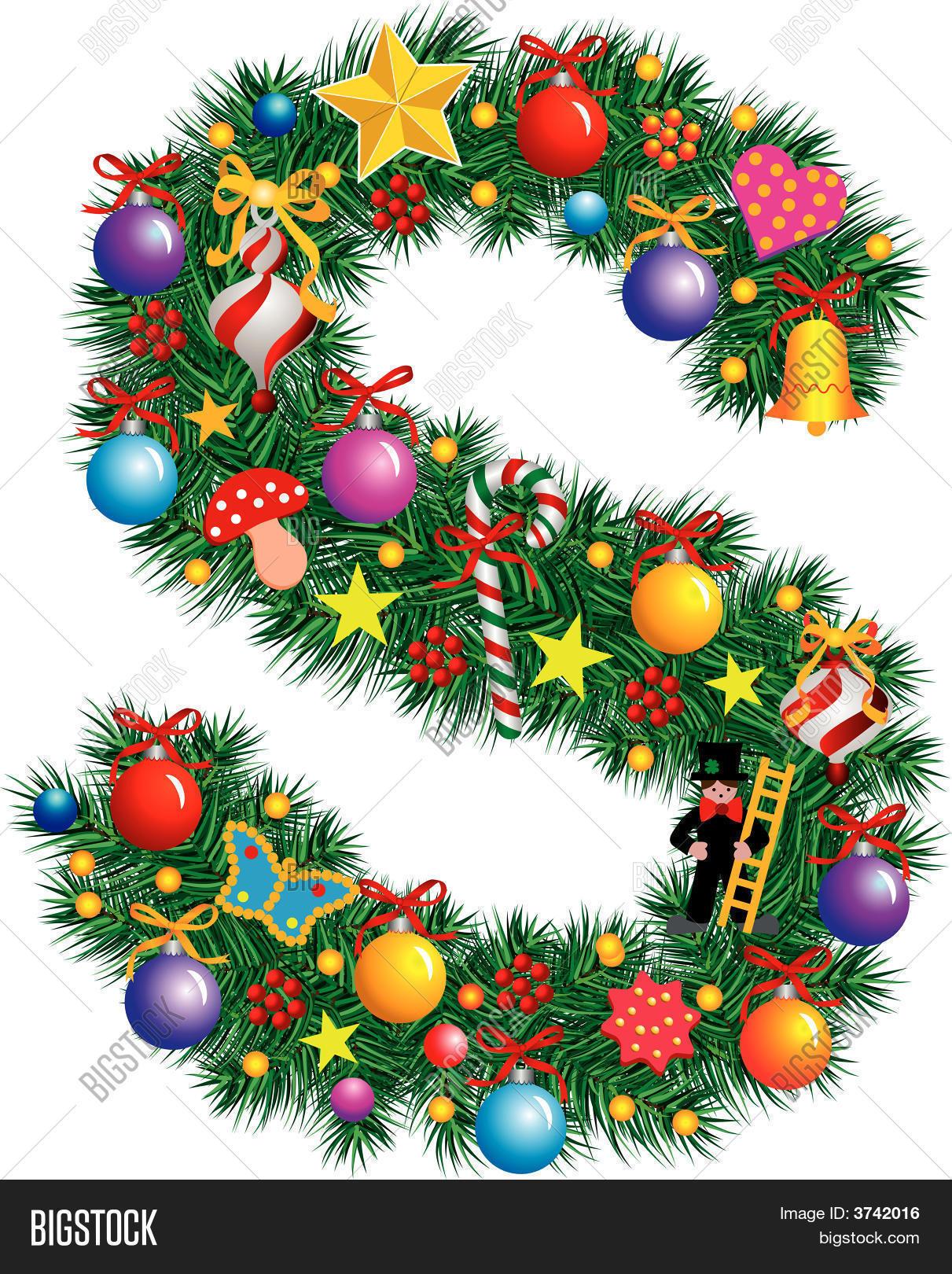 Alphabet Letter S Christmas Decoration