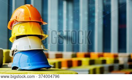 Hard Hat Construction For Worker Or Engineer Wearing Prevent Or Safety Working In Dangerous Area Suc