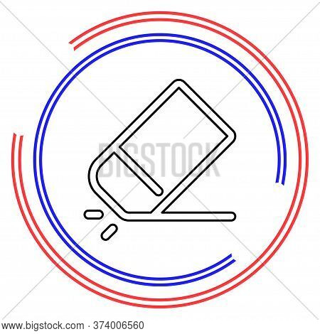 Simple Eraser. Thin Line Pictogram - Outline Editable Stroke
