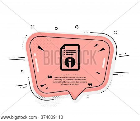 Technical Information Icon. Quote Speech Bubble. Instruction Sign. Quotation Marks. Classic Technica