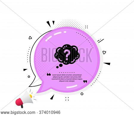 Question Mark Icon. Quote Speech Bubble. Quiz Chat Bubble Sign. Quotation Marks. Classic Question Ma