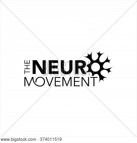 Simple Typography For Neuron Healthcare Vector Medical Education Logo Graphic Design Template Ideas