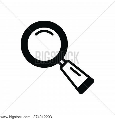 Black Solid Icon For Find Search Quest Discovery Finding