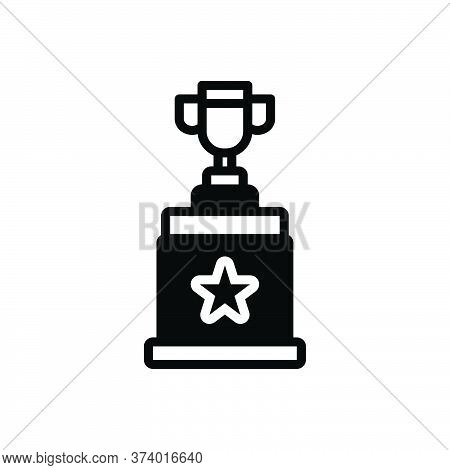 Black Solid Icon For Winner Award Triumphant Prize Victorious Conquer Vanquish