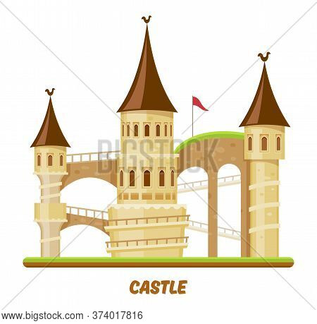 Medieval Castle, Fairy Palace Tower, Fantasy Fort