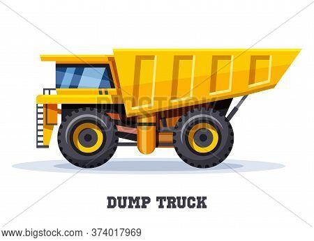 Dump Truck Tipper, Dumper Haul, Industry Machine